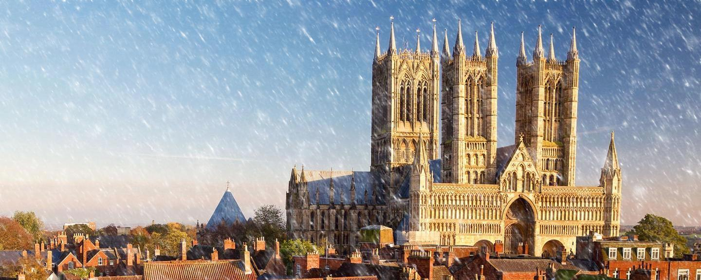 Lincoln Cathedral Snow Banner