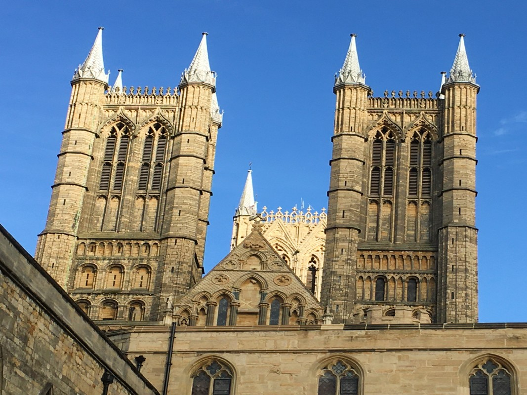 Lincoln cathedral spires