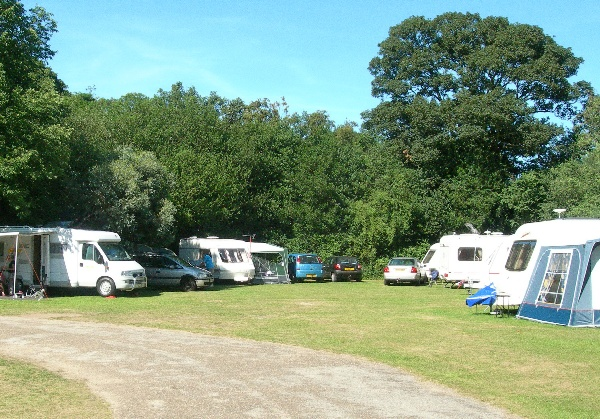 Photograph of the campsite at Hartsholme Country park