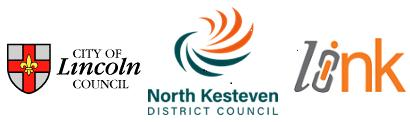 City of Lincoln Council Logo, North Kesteven District Council logo, LiNK logo