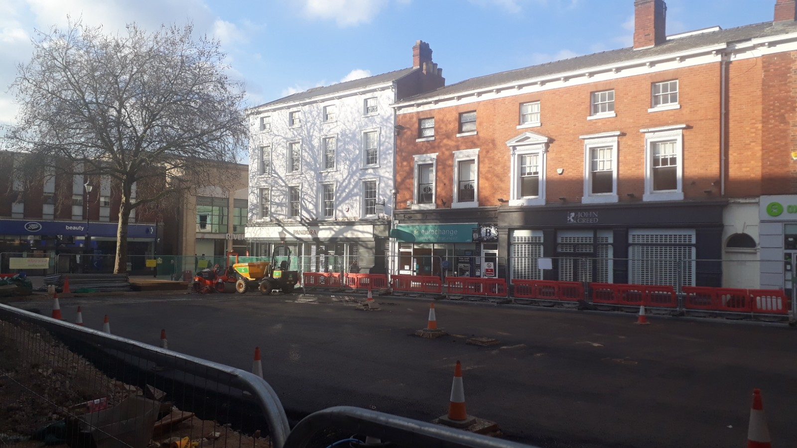 An image of the phase two works so far on the Cornhill.
