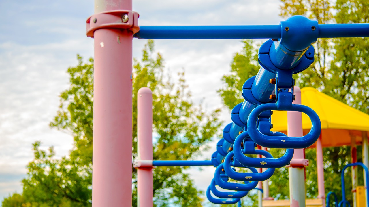 Stock image of play equipment.
