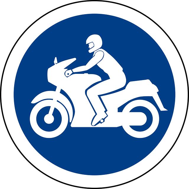 Motorcycle parking traffic sign