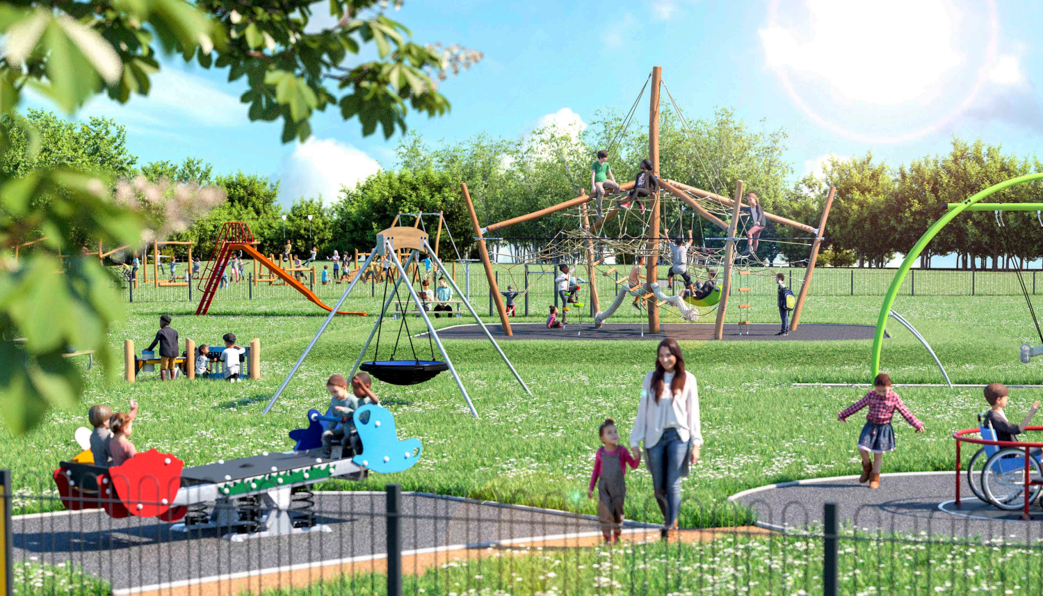 A CGI of plans for the park.